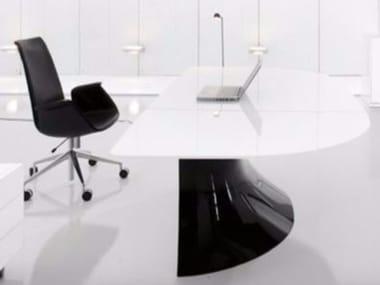 Acrylic office desk Small Contemporary Style Cristalplant Executive Desk Ola Executive Desk Octeesco Acrylic Stone Office Desks Archiproducts
