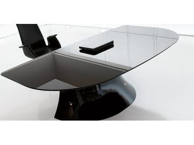 Scrivania Ufficio Vetro : Scrivanie per ufficio in vetro laccato archiproducts