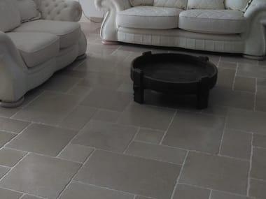 Indoor/outdoor natural stone flooring OLD APULIA ANTIQUE SATIN