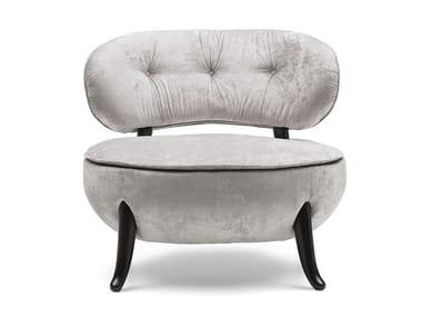 Tufted velvet easy chair OLEANDRA