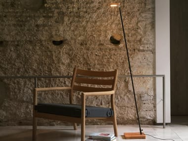LED wooden floor lamp OLF | LED floor lamp