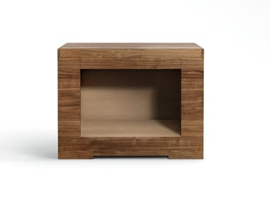 Rectangular wooden bedside table OLI | Bedside table