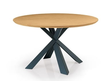 Round custom wooden table MONTANA   Round table