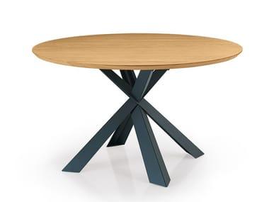 Tavolo rotondo in legno su misura MONTANA | Tavolo rotondo