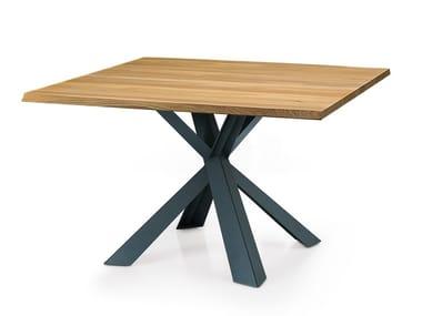 Tavolo quadrato in legno su misura MONTANA | Tavolo quadrato