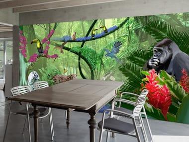 Carta da parati ignifuga tropicale OLIVER
