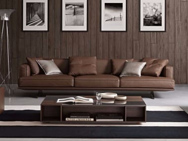 5 seater upholstered leather sofa OLIVER