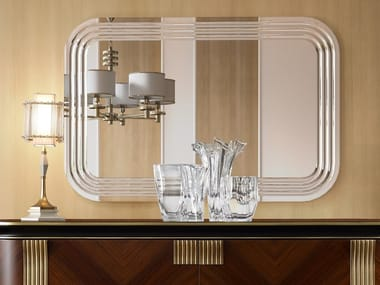 Rectangular wall-mounted mirror OLIVER | Wall-mounted mirror