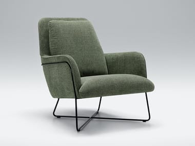 Fabric armchair with armrests OLIVER | Fabric armchair