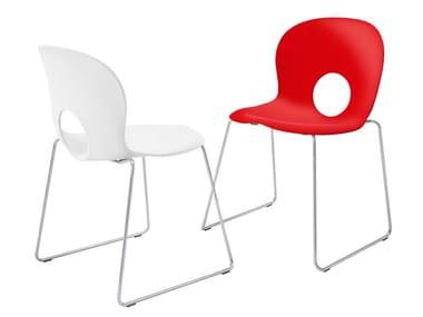 Sled base polypropylene chair OLIVIA SLIM