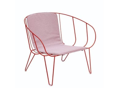 Garden steel easy chair with armrests OLIVO | Easy chair