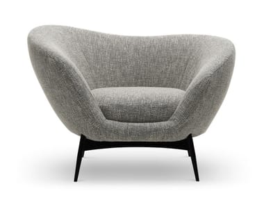 Fabric armchair with armrests OLTREMARE | Armchair