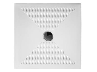 Anti-slip square ceramic shower tray OLY | Square shower tray
