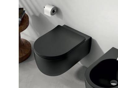 Wall-hung ceramic toilet OLYMPIA CERAMICA - MILADY BLACK