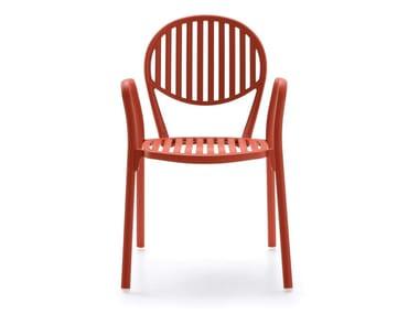 Aluminium garden chair with armrests OLYMPIA