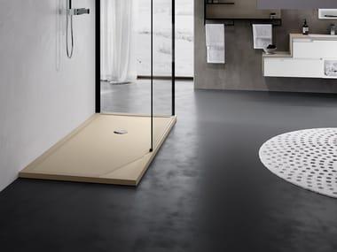 Piatto doccia rinforzato con profili in acciaio OLYMPIC PLUS