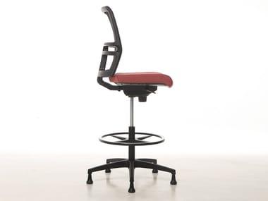 Office stool with 5-Spoke base for designer OMNIA | Office stool