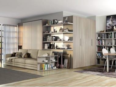 wohnw nde mit klappbett archiproducts. Black Bedroom Furniture Sets. Home Design Ideas
