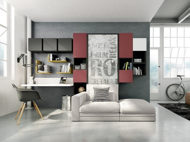 Storage Wall With Fold Away Bed On Off Configuration 269