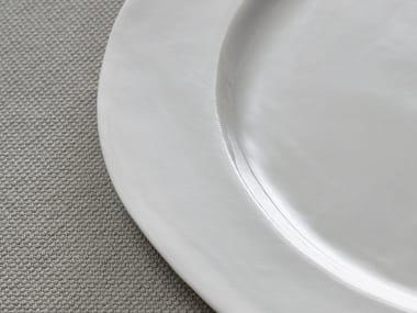 Porcelain dinner plate ONDA | Dinner plate