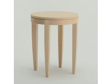 Contemporary style oval wooden bistro side table ONDA T02