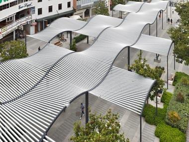 Terrassenüberdachung aus Aluminium strangpresst eloxiert ONDA
