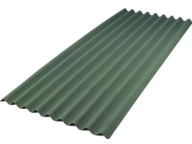 Roof panel in opaque plastic laminate ONDULINE BASE