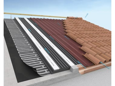 Dual waterproofing and thermal insulation system ONDULINE® ROOFING SYSTEM