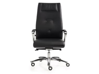Swivel executive chair with armrests with castors ONE | Executive chair with headrest