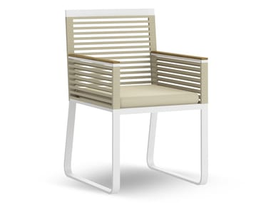 Technical fabric garden chair with armrests ONLINE | Chair with armrests