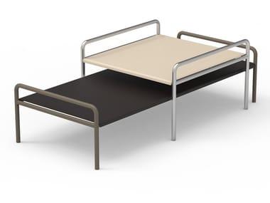 Tavolino rettangolare in acciaio inox ONSEN | Tavolino