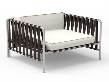 Aluminium garden armchair with armrests ONSEN | Garden armchair