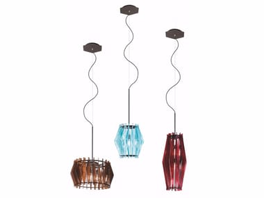 Glass pendant lamp OOMPA-LOOMPA | Pendant lamp