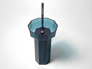 Freestanding Cristalmood® washbasin OPALE