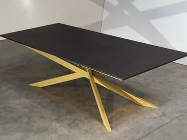 Tavolo da giardino rettangolare in Dekton® OPALE