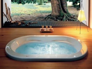 Vasca da bagno idromassaggio ovale da incasso OPALIA | Vasca da bagno