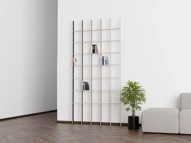 Open plywood shelving unit OPEN