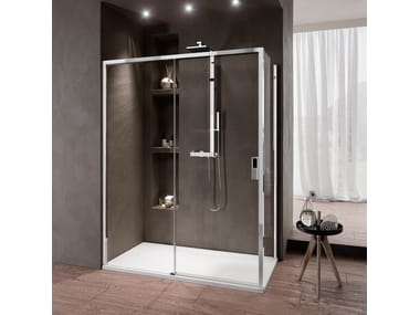 Box doccia angolare con porta scorrevole OPERA 2P