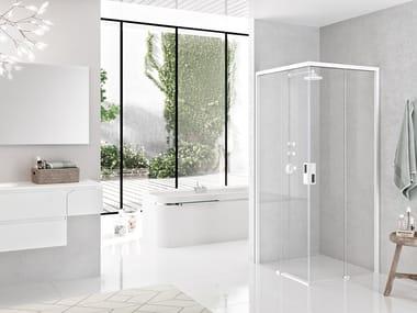 Box doccia angolare con porta scorrevole OPERA A