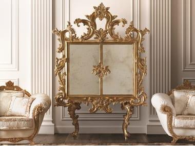 Gold leaf bar cabinet OPERA | Bar cabinet