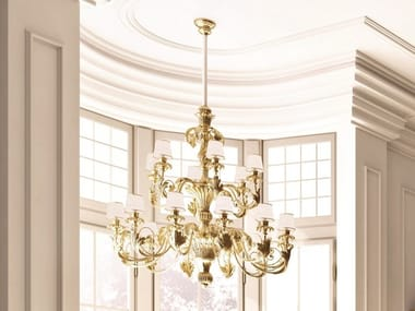 Gold leaf chandelier OPERA | Chandelier