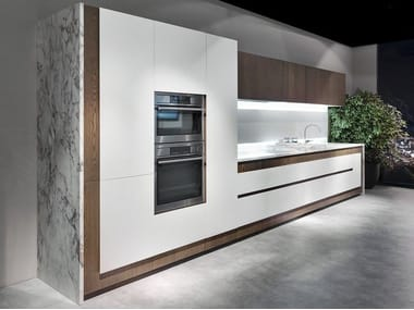Linear kitchen with integrated handles OPERA | Linear kitchen