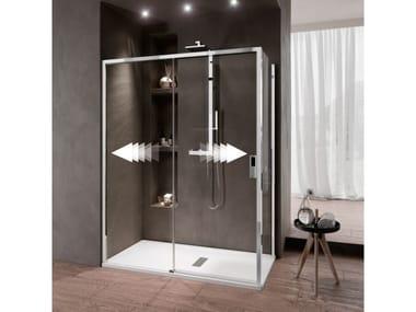 Box doccia angolare con porta scorrevole OPERA | PH + FH