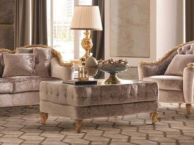 Rectangular fabric coffee table OPERA | Fabric coffee table