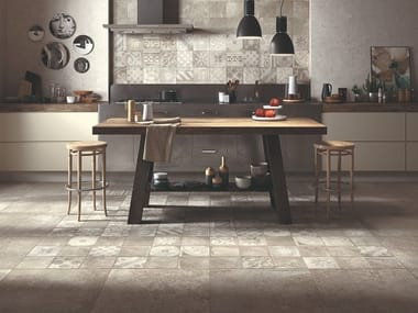 Indoor/outdoor porcelain stoneware wall/floor tiles with concrete effect OPIFICIO 22/A