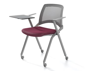Sedia impilabile con braccioli per sale d'attesa OPLÀ MESH BR