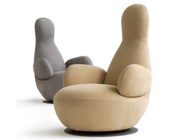 Swivel armchair with armrests OPPO | Armchair with armrests