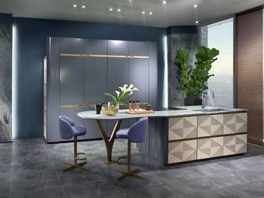 Kitchen with island OPTICAL SKIN   Kitchen with island