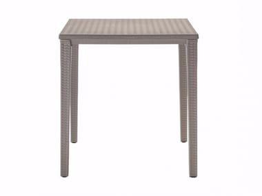 Stackable square plastic garden table ORAZIO | Square table