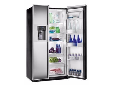 American style mirrored glass refrigerator with ice dispenser Class A + ORE 24 CGF KB CPS